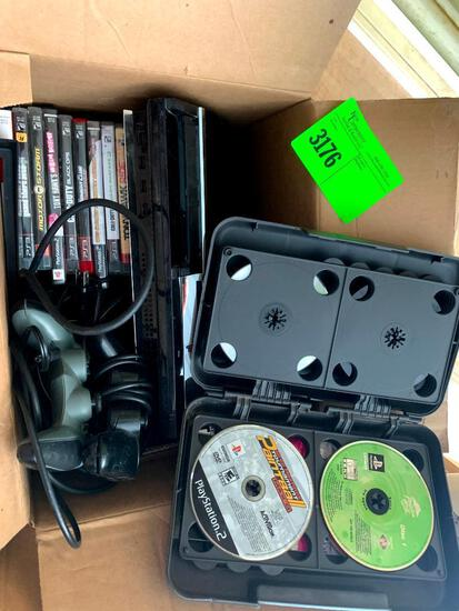 Play station 2 with games and controllers