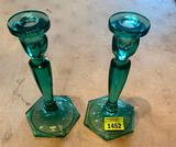 Fenton Glass Candle Holders