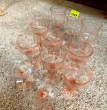 Pink etched Glass, 3, 7