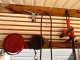 Straps Air Tool and Hose, Hedge Trimmer, Pocket Knife