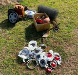 Old Phillips can Chevy tail lenses 60's models and more