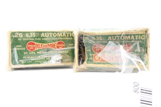 Vintage .25 Auto ammo