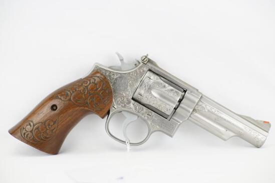 Engraved Smith & Wesson Combat Magnum