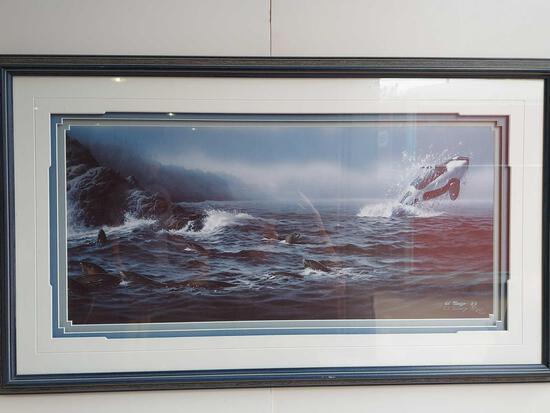 Framed Orca Art