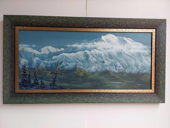 Framed Mountain Art by Ed Mills