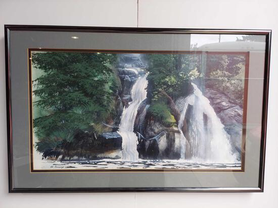 Framed Inside Passage Waterfall By Ed Tussey