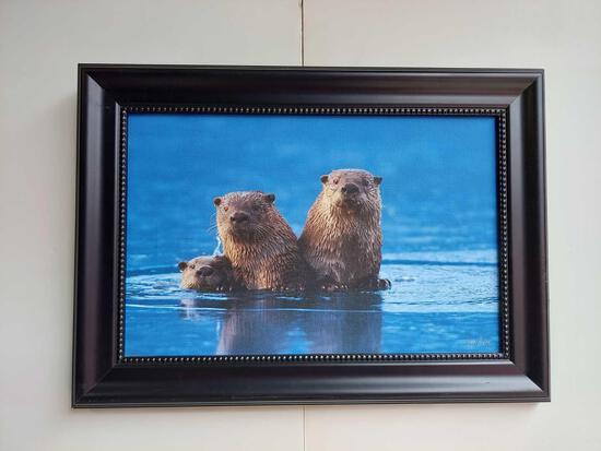 Framed Family of Otters