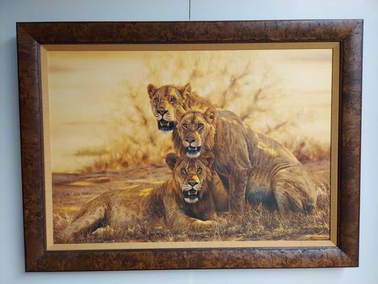Framed Hot Lions by Simon Combs