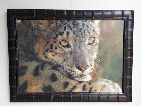 Framed Leopard Art
