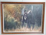 Framed Moose Art