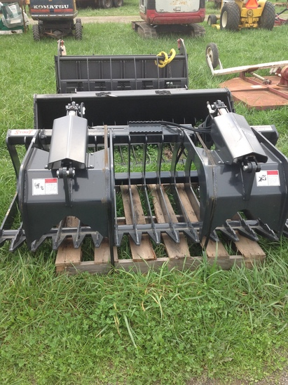 Stout Skid Steer Brush Grapple Attachment