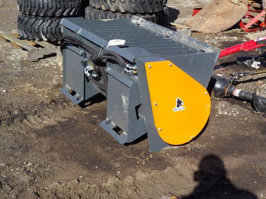 New wolverine skid loader concrete mixer