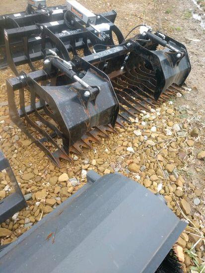 "84"" dual cylinder dual cylinder rock grapple"