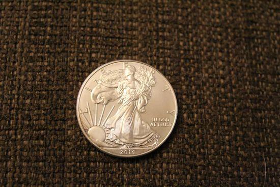 2014 1oz fine silver dollar coin