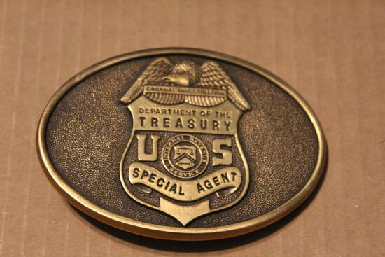 Department of the treasury special agent buckle