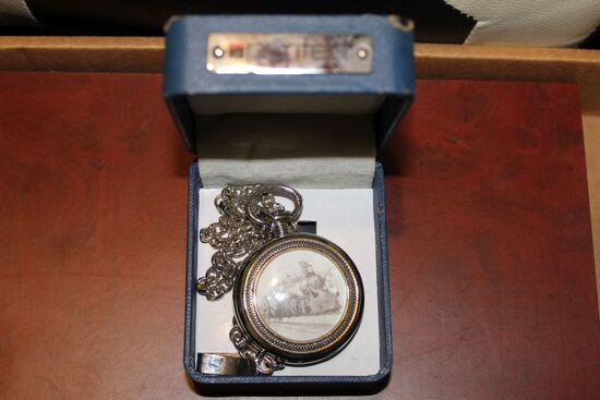 Silver Train Puritan pocket watch