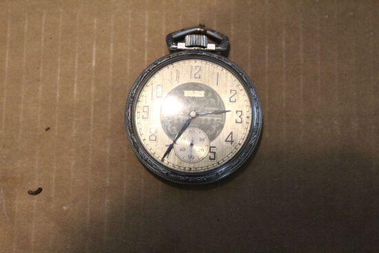Silver Elgin pocket watch