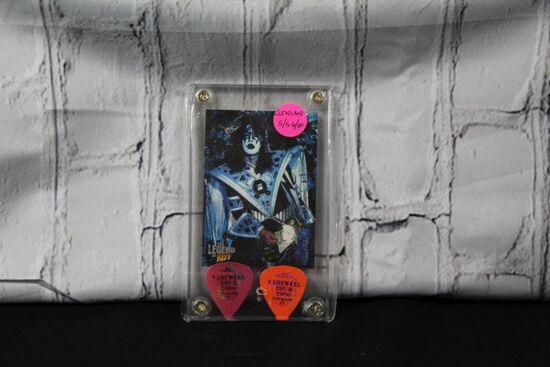 Autographed Ace Frehley guitar picks