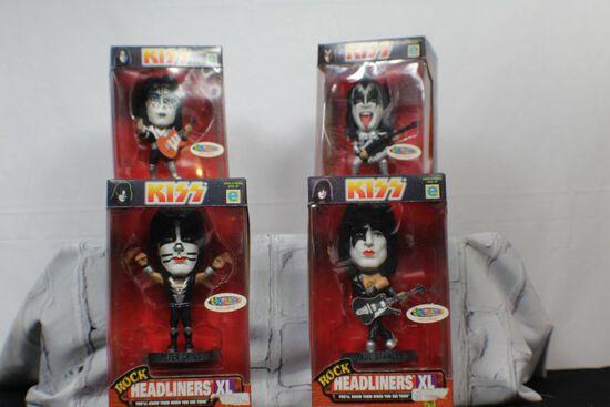 Complete Set of Kiss Rock Headliners XL bobbleheads