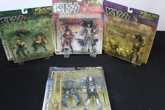 Complete set of Psycho circus KISS figurine set