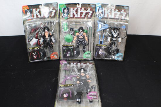Complete Set of KISS ultra action figures
