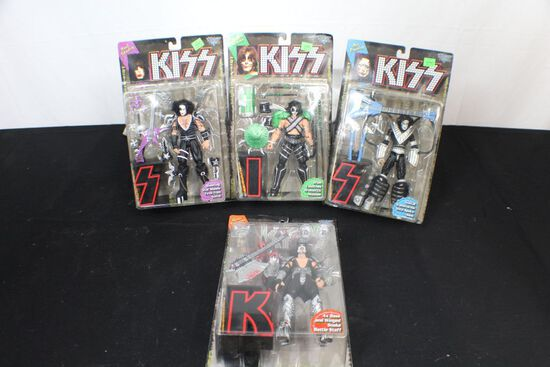 Complete set of KISS creatures collection action figures