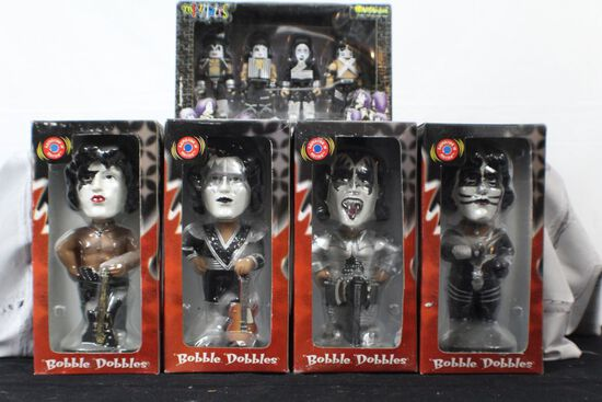Genuine hand painted bobble heads complete set