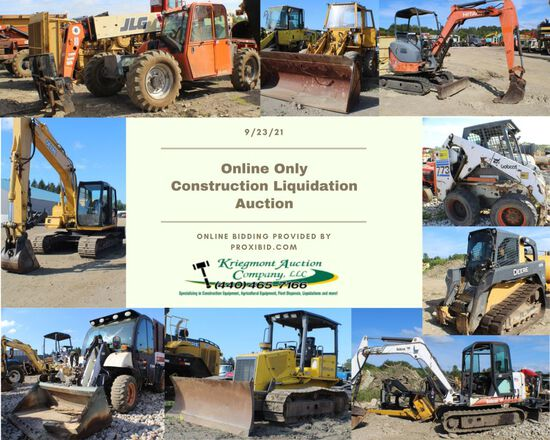 Online Only Construction Liquidation Auction