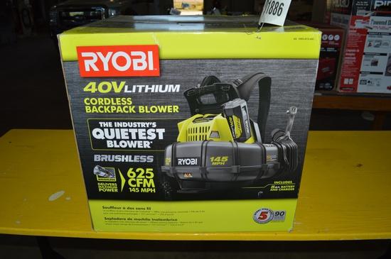 RYOBI 40V cordless backpack blower
