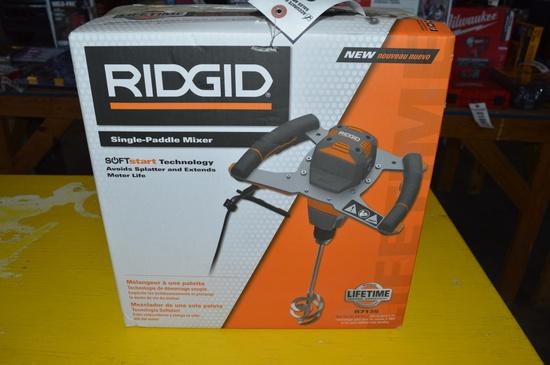 Ridged single-paddle mixer