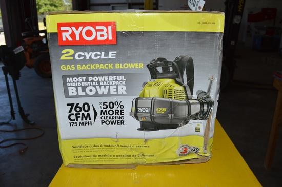 RYOBI 2 cycle gas backpack blower