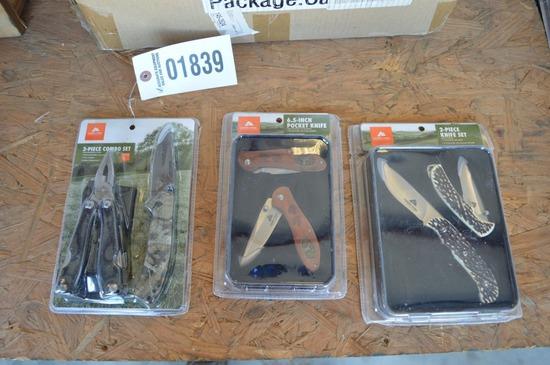 3 sets of Ozark knives