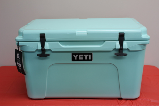 Yeti Tundra 45 Cooler (Seafoam). Donated by COUNTRY Financial