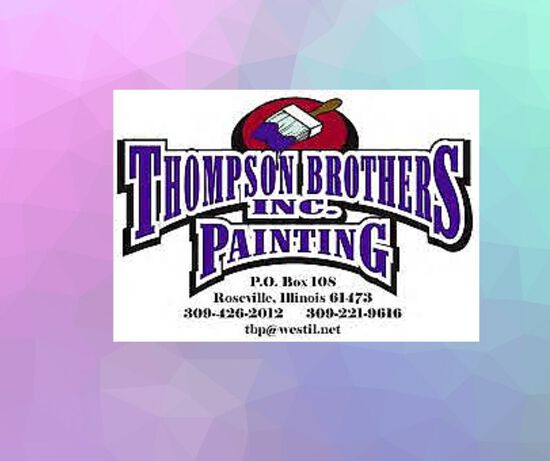 $250 worth of painting. Donated by Thompson Brothers Painting