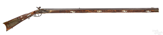 Thomas Ganoe flintlock long rifle