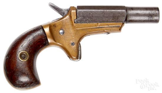 Brass frame muff pistol