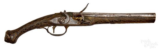 Turkish flintlock pistol