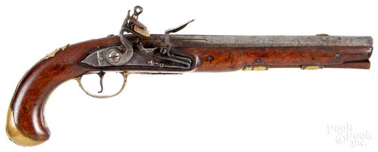 European flintlock pistol
