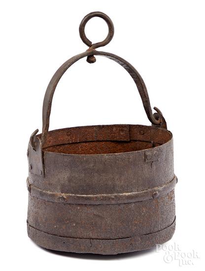 Revolutionary war hand forged cannon sponge bucke