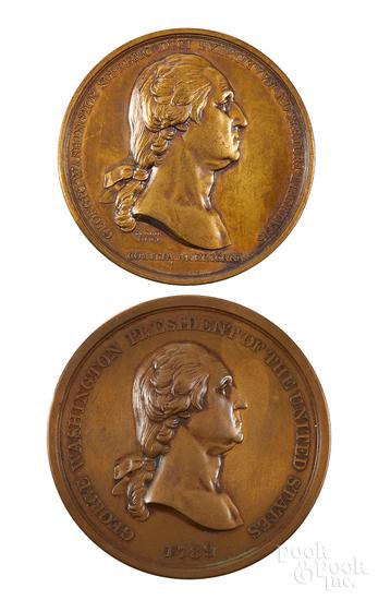 George Washington bronze Indian Peace medal