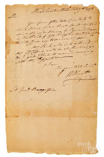 William Heath signed handwritten letter