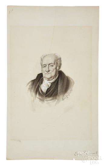 Albert Rosenthal watercolor of Elias Boudinart