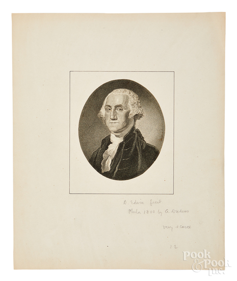 George Washington portrait engraving