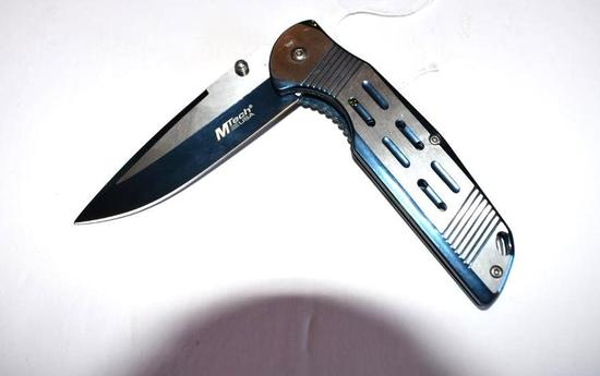 M Tech Folding Knife, Blue toned