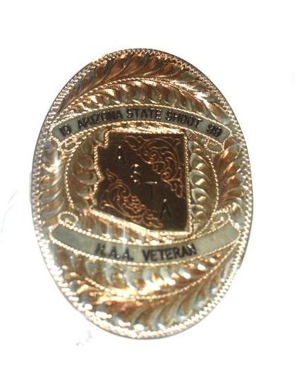 Arizona State Shoot '99 Oval Plate for Buckle or Badge.. Sterling