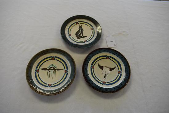 Western and Native American Themed Plates