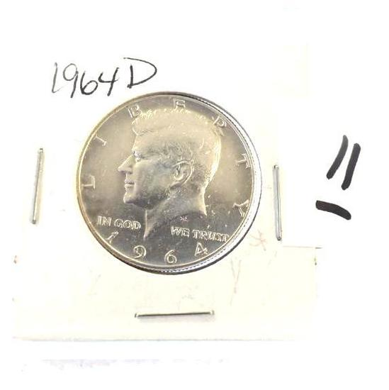 1964-D Kennedy Half, Nice and Clear Finish