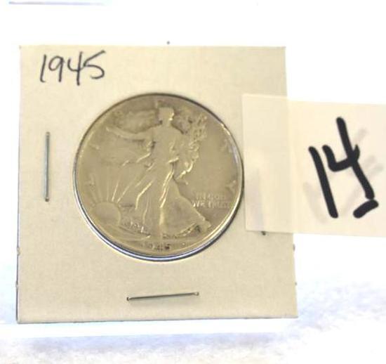 1945 Walking Libery Half Dollar