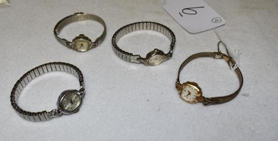 Vintage Ladies Wrist Watches to include: Elgin, Waltham and Bulova