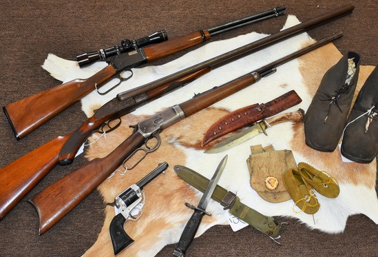 FIREARMS, US SILVER & TYPE COIN COLLECTION